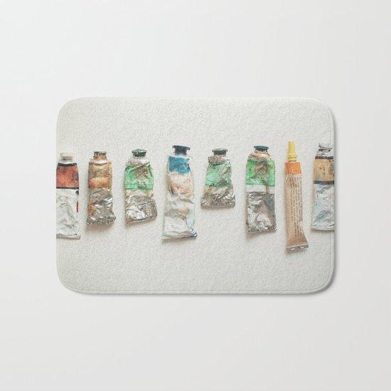 Oil Paints Bath Mat