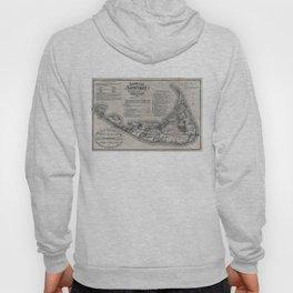 Vintage Nantucket Map Hoody