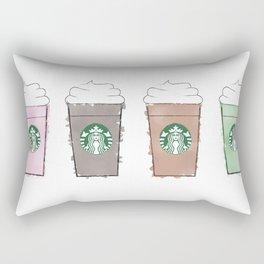 Watercolor Frappuccinos Rectangular Pillow