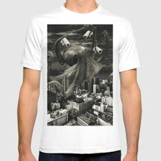 Modern Freedom Black and White MEDIUM White Mens Fitted Tee