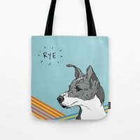 catcher in the rye Tote Bags featuring Rye Pillow by sylvieceres