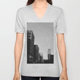 Broderick Tower - Detroit, MI Unisex V-Neck