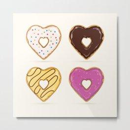 Heart Shaped Donuts Metal Print