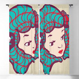 Girl Power Dynamite Laser Beam Blackout Curtain