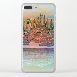 Memory Island Clear iPhone Case