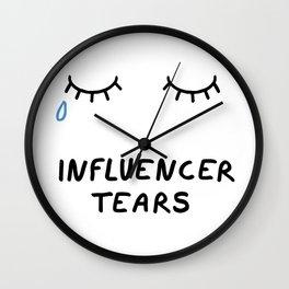 Influencer Tears Wall Clock