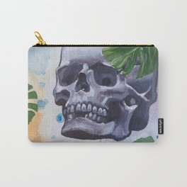 Tropical Palm Skull Carry-All Pouch
