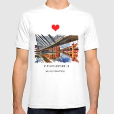 Castlefield Junction Mens Fitted Tee White MEDIUM
