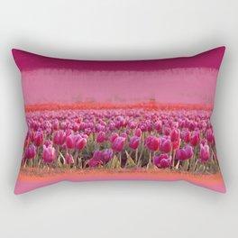 field of tulips Rectangular Pillow