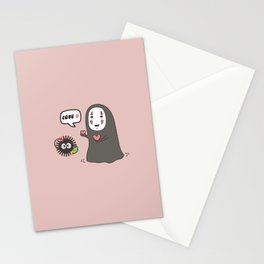No-Face in Love of SootBall Stationery Cards
