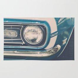 Blue Classic Camaro Rug