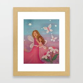Always & Forever - Mother Daughter Angels Kids Art Framed Art Print