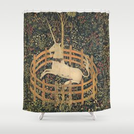 The Unicorn in Captivity Shower Curtain