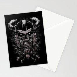 Viking Skull | Warrior Odin Illustration Stationery Cards
