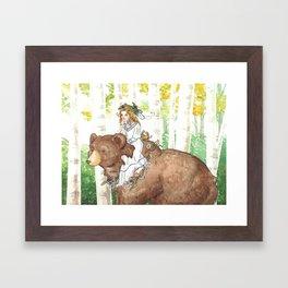Bear Maiden Framed Art Print