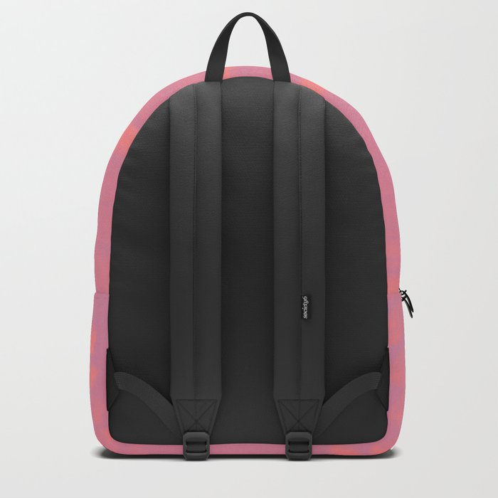 Peach Earth Lines, Pink Stripes Backpack
