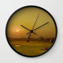 Martin Johnson Heade - Marsh Sunset, Newburyport, Massachusetts Wall Clock