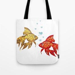 Fish in love Tote Bag