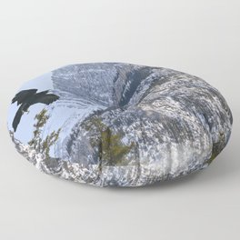 Mt Rundle & Raven (Canadian Rockies) Floor Pillow