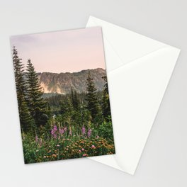 Mount Rainier Wildflower Adventure VII - Pacific Northwest Mountain Forest Wanderlust Stationery Cards