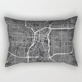 San Antonio Map, USA - Gray Rectangular Pillow