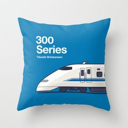 300 Series Shinkansen Side Profile Throw Pillow
