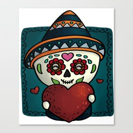 Cheerful calavera Canvas Print