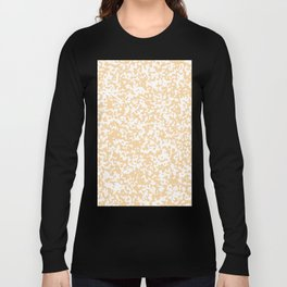 Small Spots - White and Sunset Orange Long Sleeve T-shirt