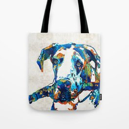 Great Dane Art - Stick With Me - By Sharon Cummings Tote Bag