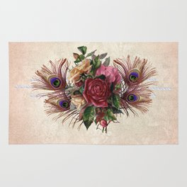Peacock Feather Bouquet Rug