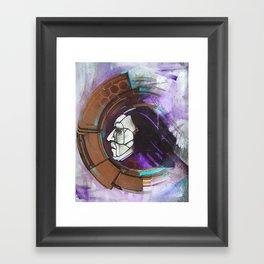 Digital Native - face Framed Art Print