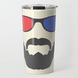 3D beard Travel Mug