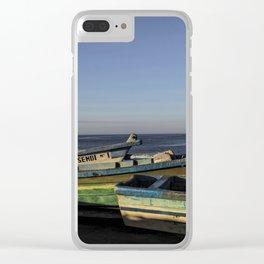 Fishin Boats Clear iPhone Case