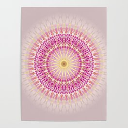 Pink Gold Mandala Poster