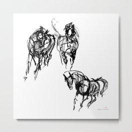 Horses (Trio) Metal Print