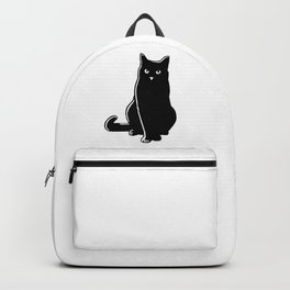 Cat Black Silhouette Pet Animal Cool Style Backpack