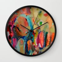 theatre Wall Clocks featuring theatre by sylvie demers