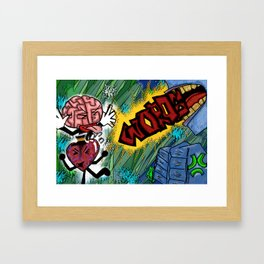 The Struggle is real with words Framed Art Print