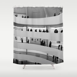 People at Guggenheim Museum Shower Curtain