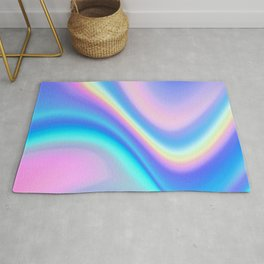 Iridescent Holographic Abstract Colorful Pattern Rug