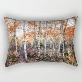 Rust Aspens Rectangular Pillow