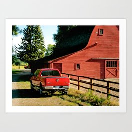 Country Red Art Print