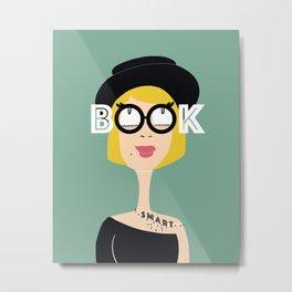 Book Smart Blonde Metal Print