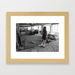 Construction Zone Framed Art Print