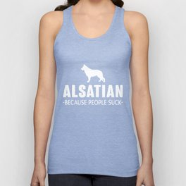 Alsatian gift t-shirt for dog lovers Unisex Tank Top