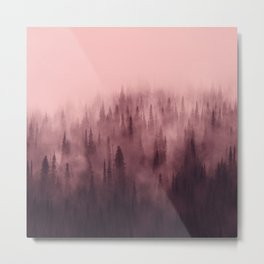 Pine Tree Fantasy Forest Landscape V.5 Metal Print