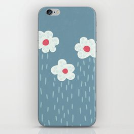 Rainy Flowery Clouds iPhone Skin