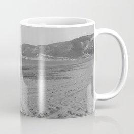 Black and white beach landscape Coffee Mug