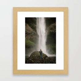 Latourell Falls // Columbia River Gorge, Oregon Framed Art Print