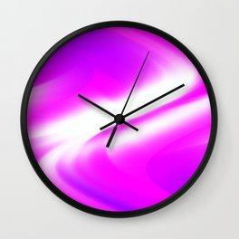 DREAM PATH (Purples, Fuchsias & White) Wall Clock